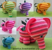 Cute Knitted Elephants.